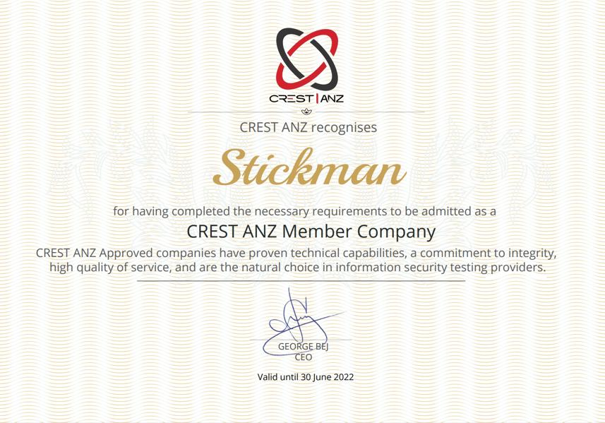 CREST ANZ Member Company